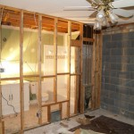guest room and downstairs bathroom deconstruction