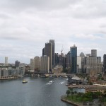 view from Sydney Harbour Bridge in Sydney, New South Wales