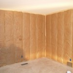 Guest room with new stud walls and insulation