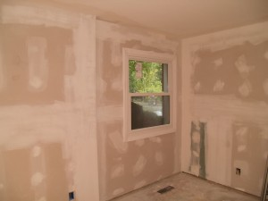 Guest room after drywall and new window