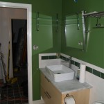 Downstairs bathroom with most fixtures installed
