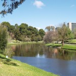 Torrens River in downtown Adelaide, South Australia