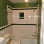 Finished downstairs bathroom with all new plumbing and electrical fixtures. Also new tile in shower.