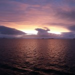 Sunset on South Shetland Islands