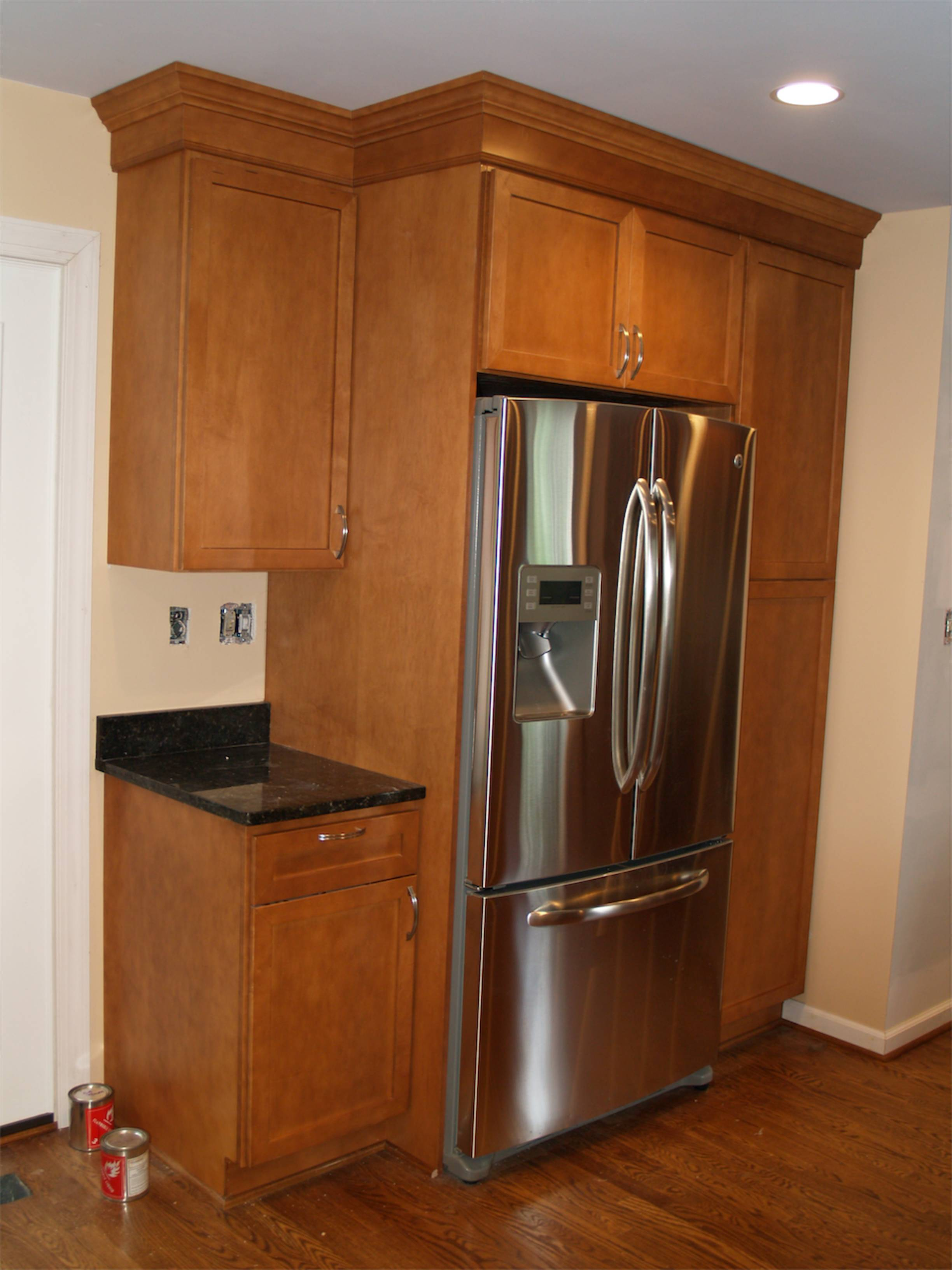 Refrigerator kitchen cabinet images for Where to get a kitchen from