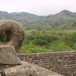Curved carving in Copan ruins