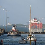Gatun Locks in Panama Canal, Panama