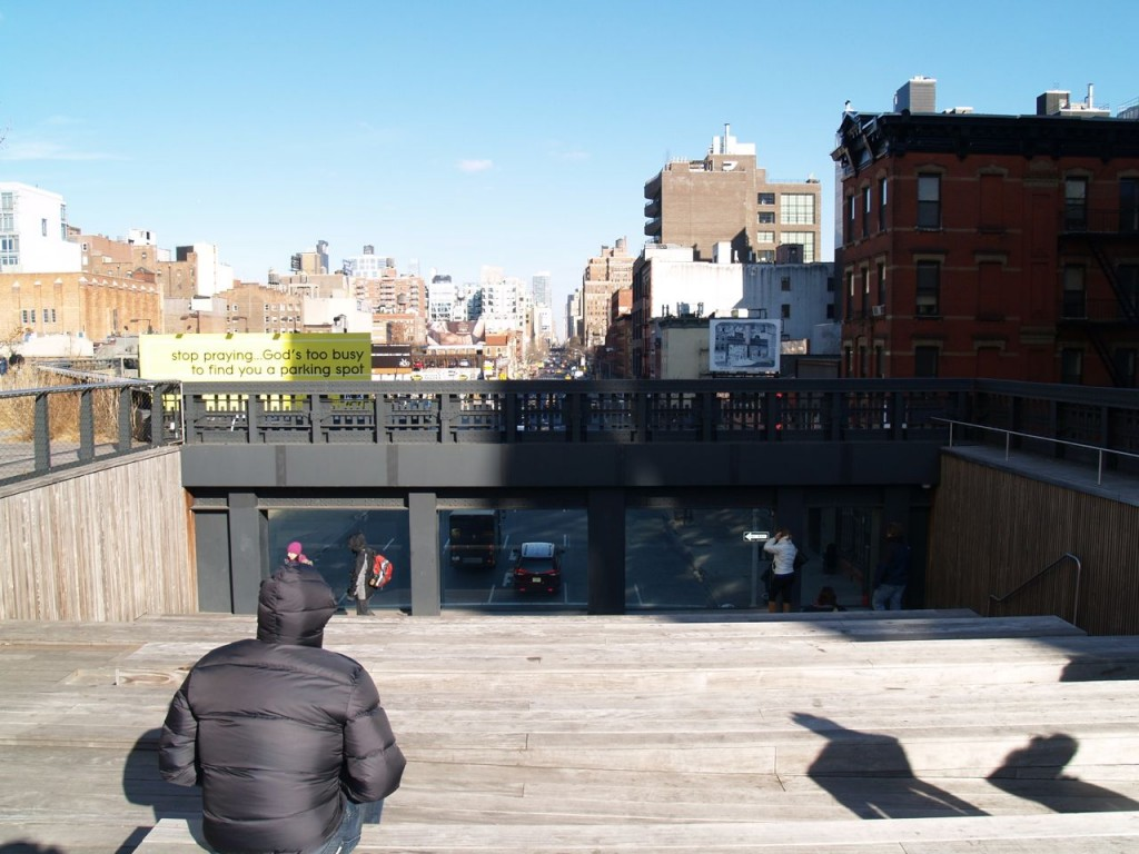 highline theater view of street