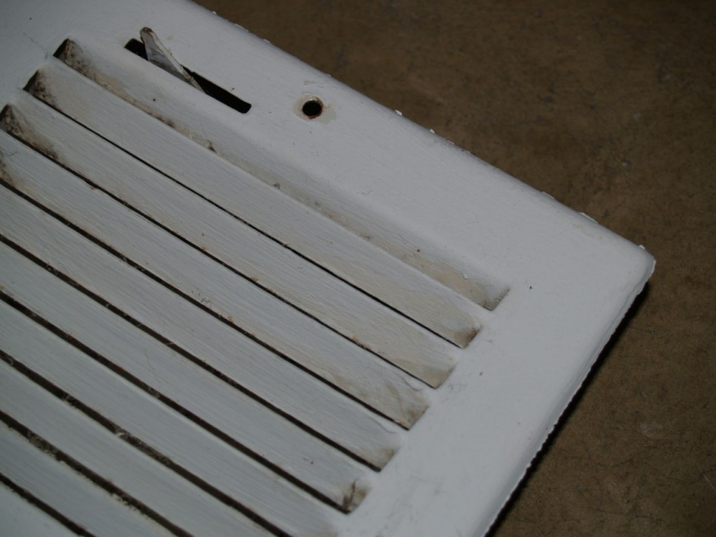Improperly painted vent cover