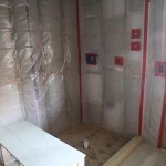 Shower frame built and water proofed