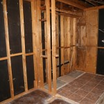 The now larger area minus drywall and insulation