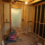 Old closet area after drywall and insulation removal