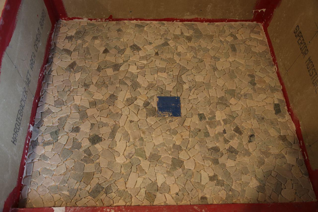 Shower Floor Tiles Which Why And How: Shower Floor Tile Laid