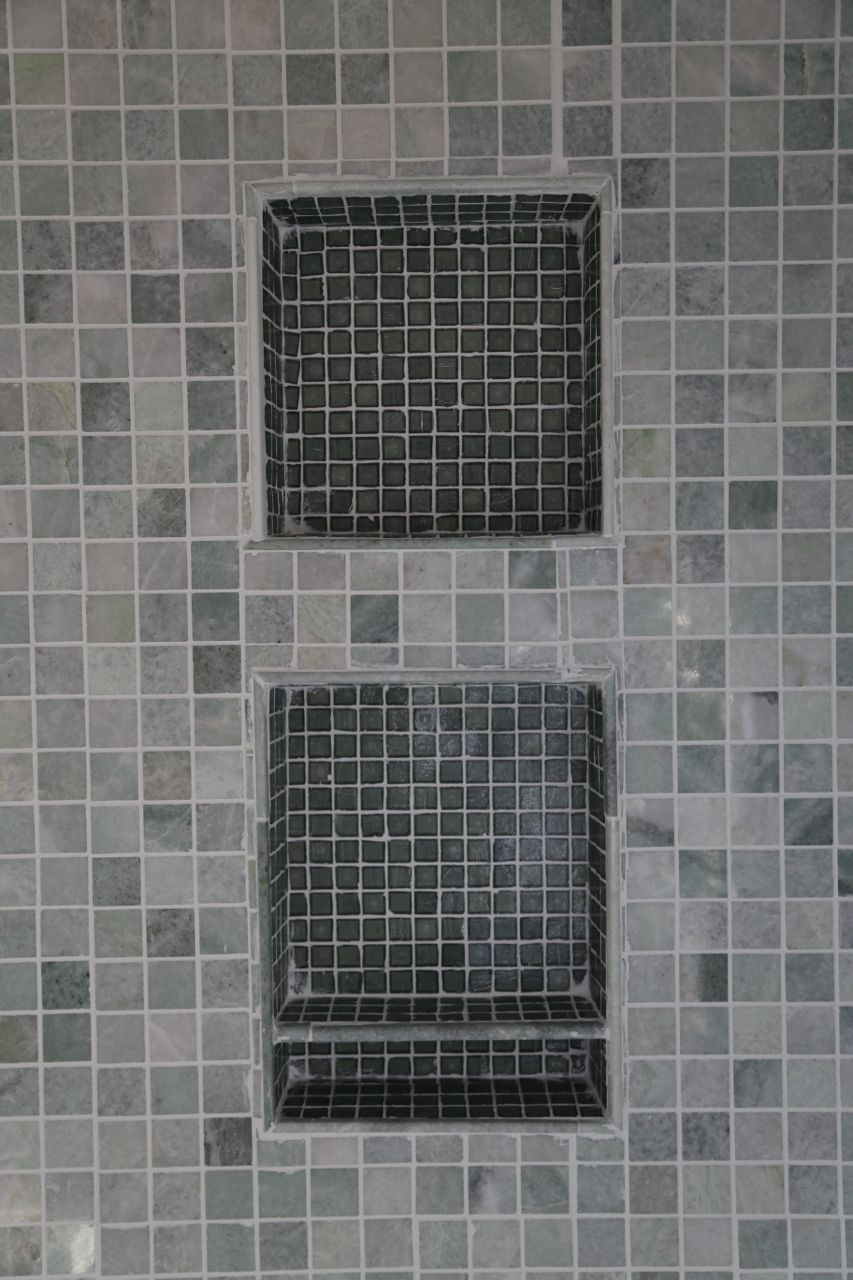 shower niche tile