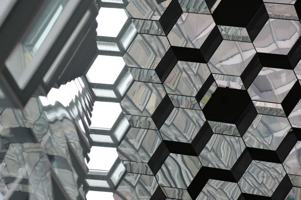 Harpa wall and ceiling from interior