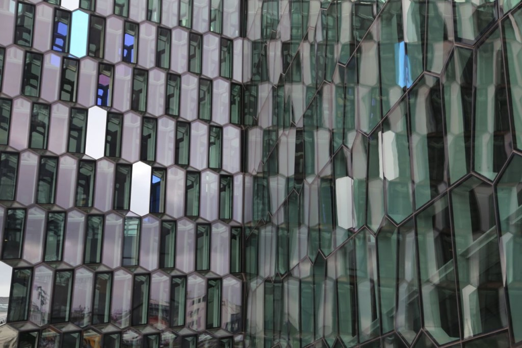 Harpa wall from exterior