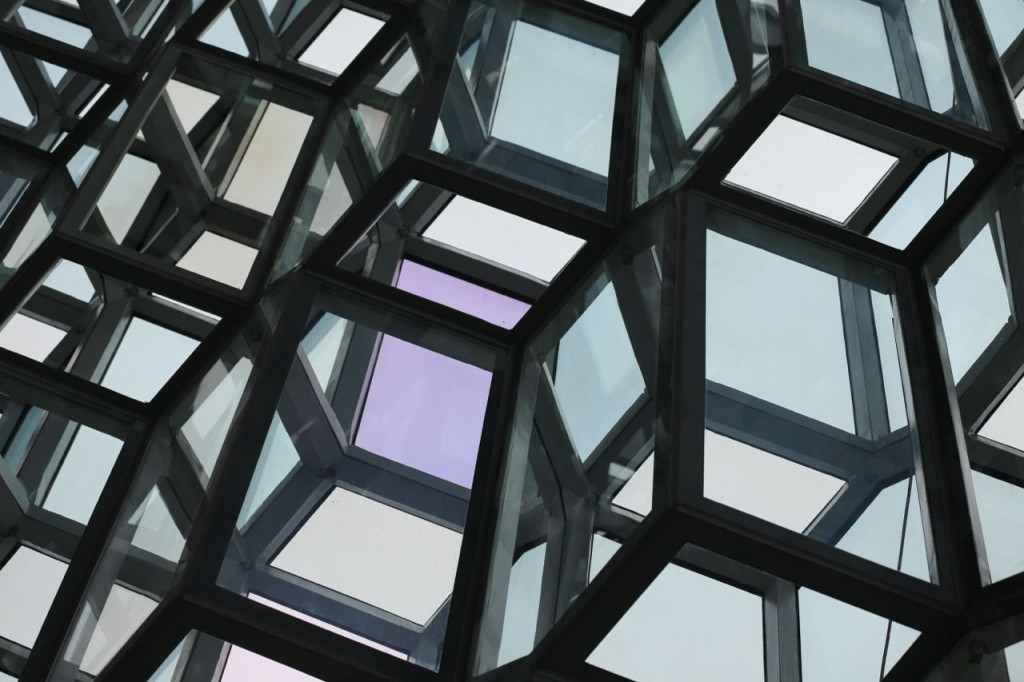 Harpa wall from interior