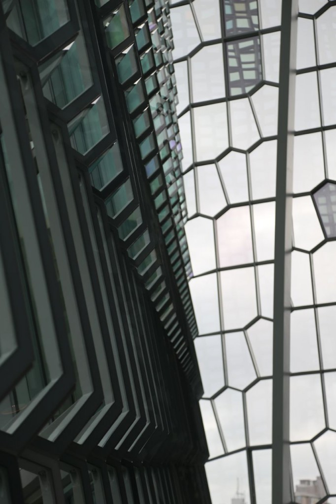 Harpa walls from interior