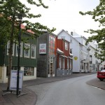 Narrow streets of Reykjavik with brightly colored buildings