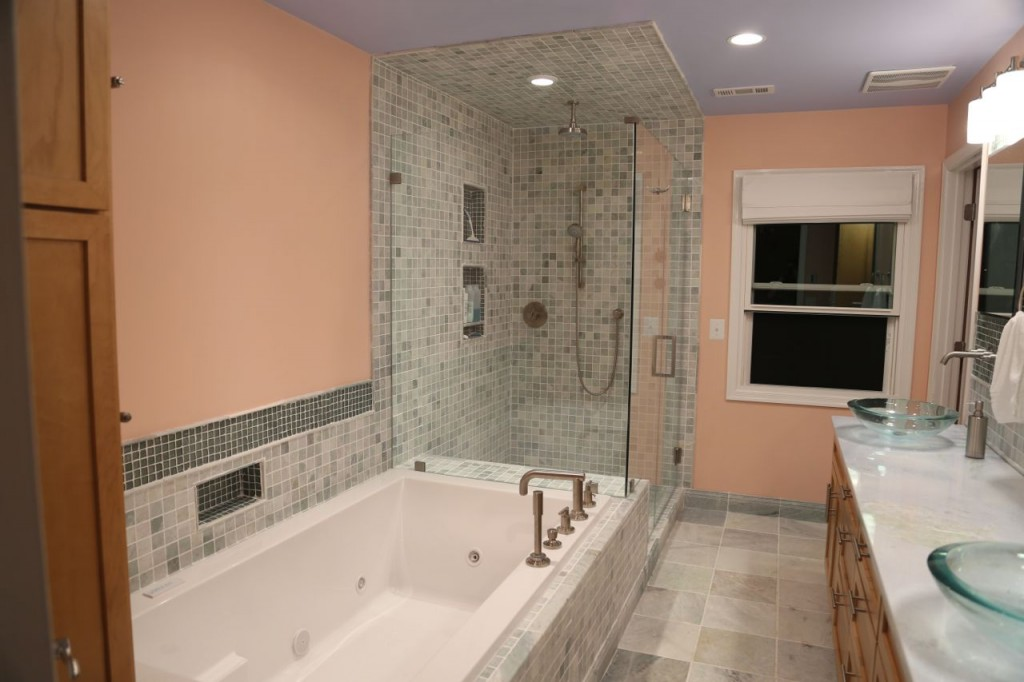 Newly renovated master bathroom