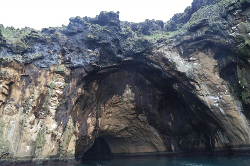 Cave on Heimaey, in which our captain played a saxophone to demonstrate the acoustical properties