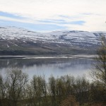View of fjord from the Akureyri
