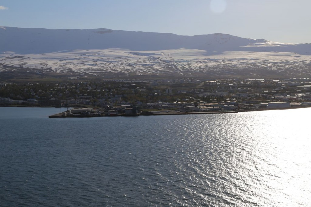 View of Akureyri from across fjord