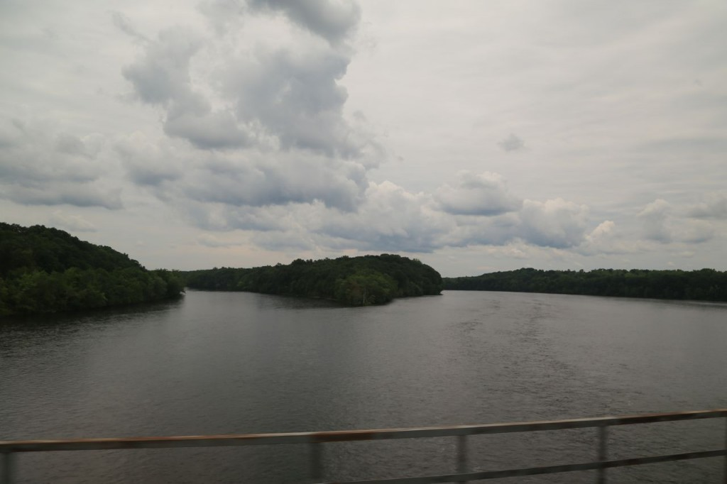 Crossing the Connecticut River near Windsor Locks, CT