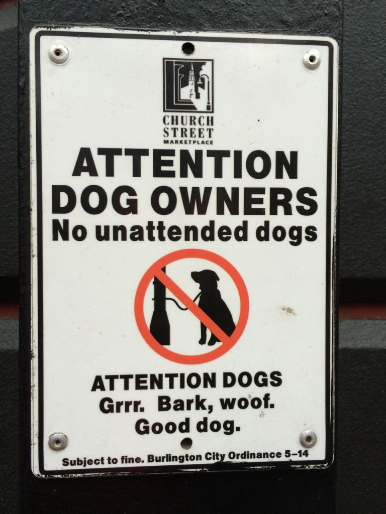 Dog ordinance sign