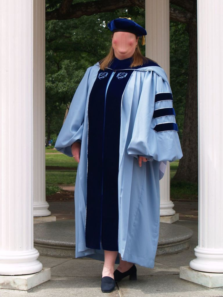 Me in my Ph.D. regalia
