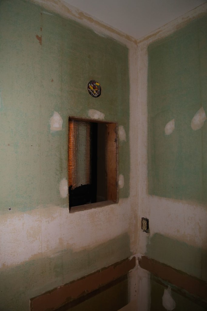 Hole left from medicine cabinet