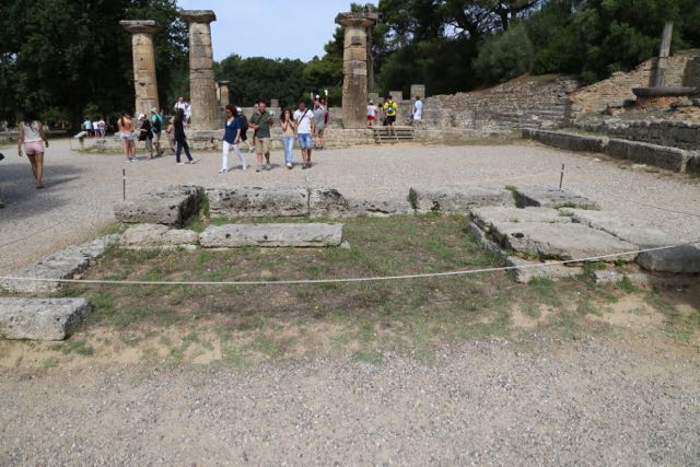 Hera's Alter, where they light the Olympic torch for modern Olympics