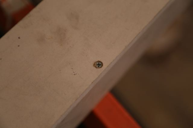 Screws used to join two planks