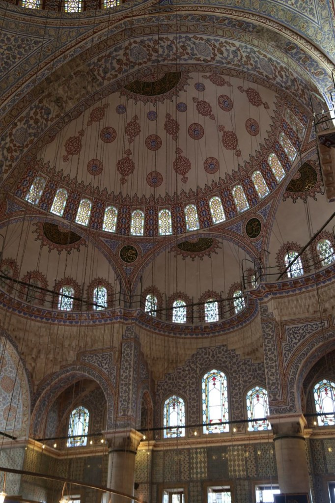 Arches of Blue Mosque interior