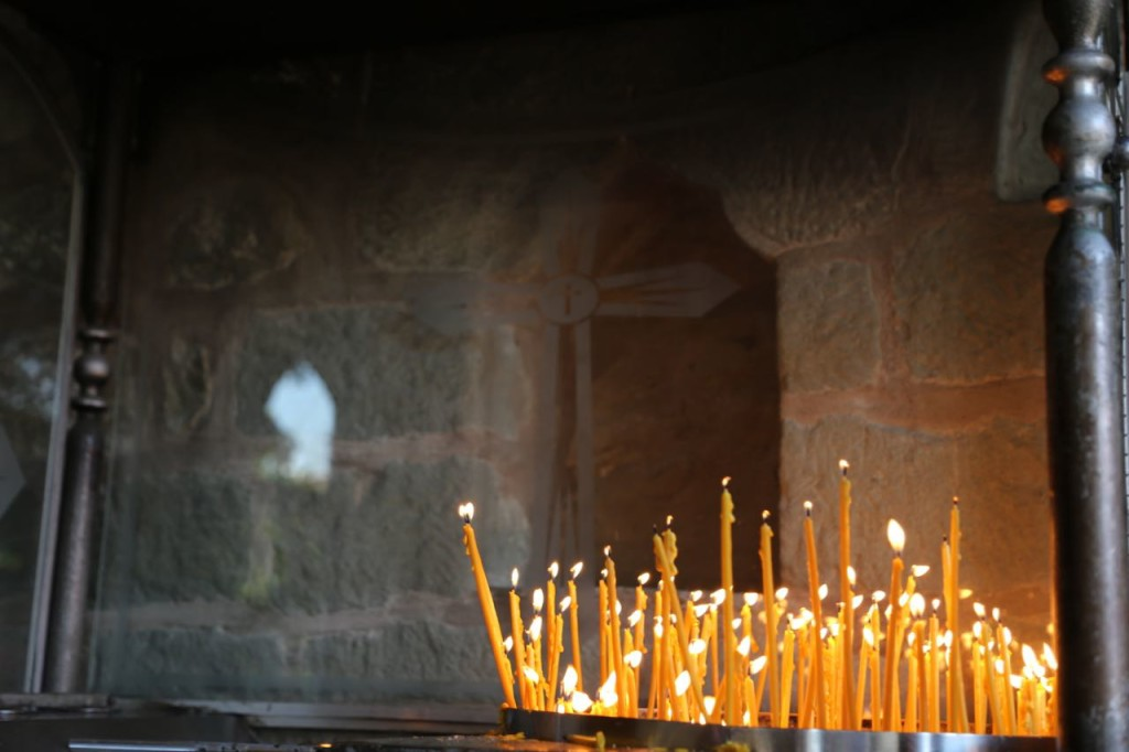 Candles at Holy Monastery of St. Stephen