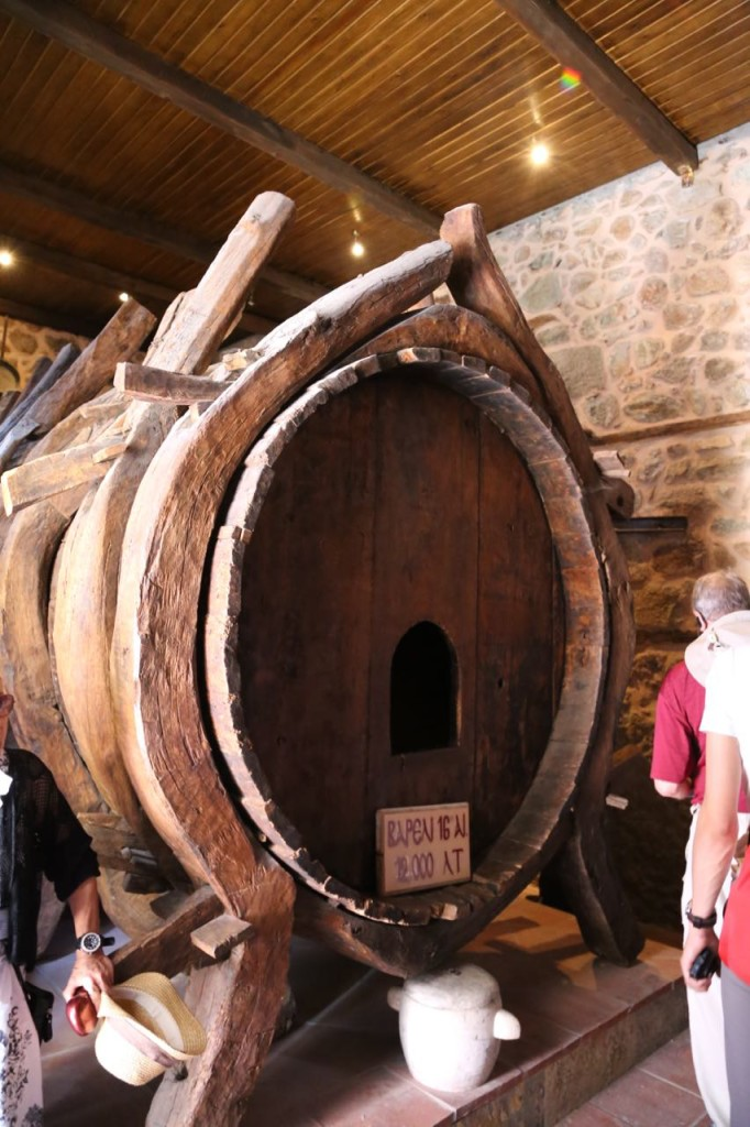 Wine barrel at Holy Monastery of Varlaam