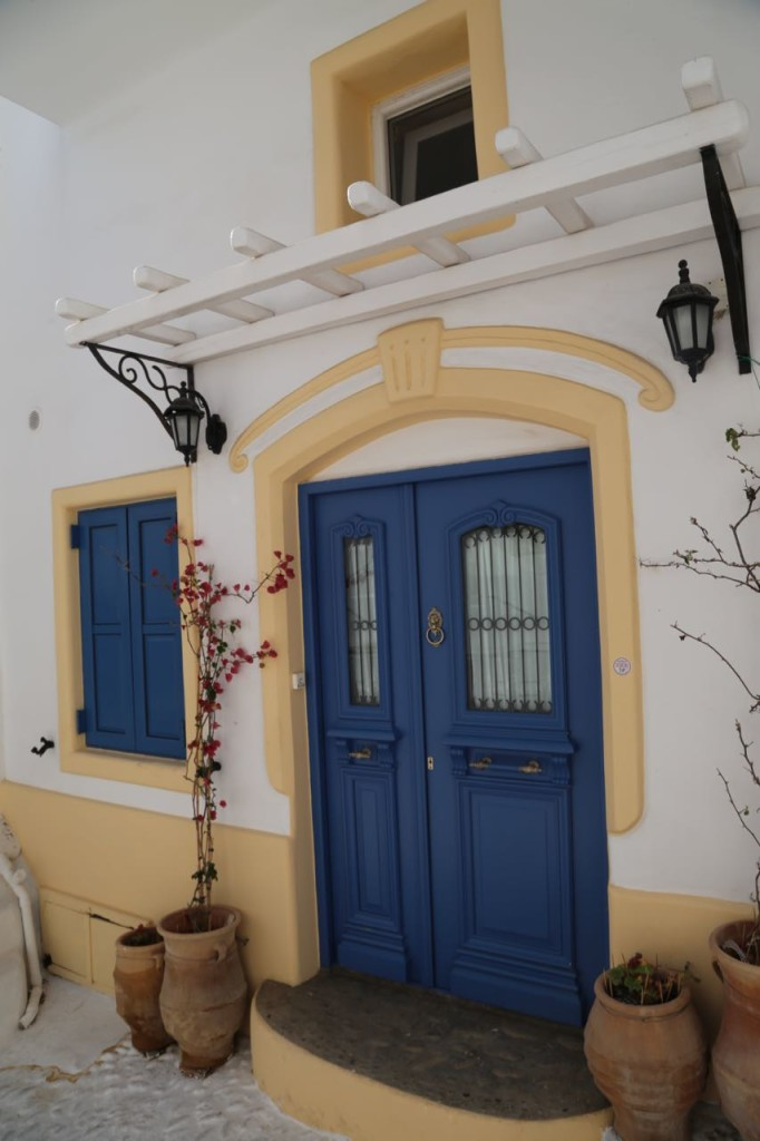 Colorful doors and trim