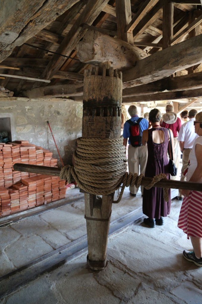 Old rope lift at Holy Monastery of Varlaam