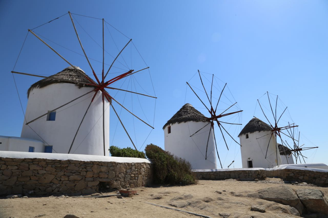 Mykonos Windmills Geeky Girl Engineer