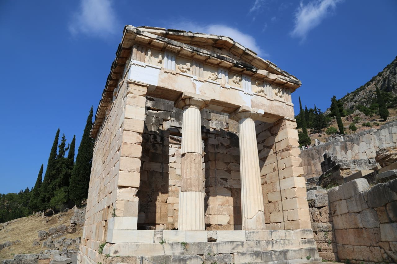 Treasury of the Athenians, Delphi – Geeky Girl Engineer