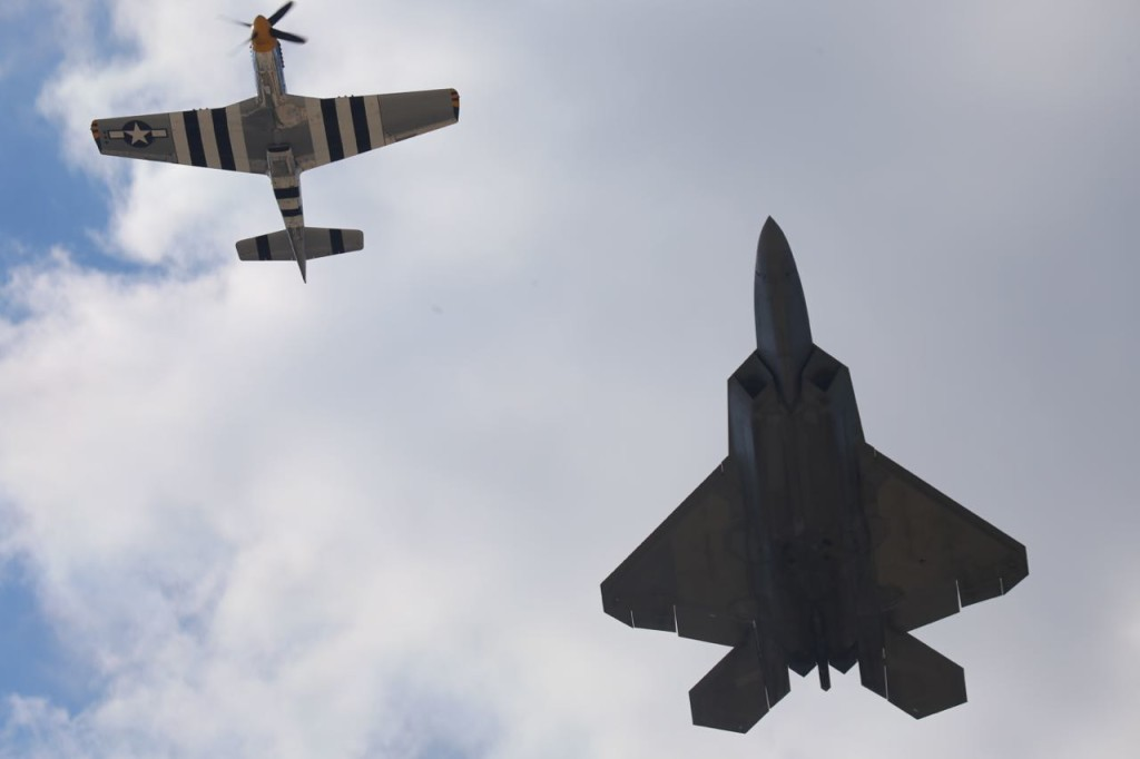 P-51 Mustang and F-22 Raptor