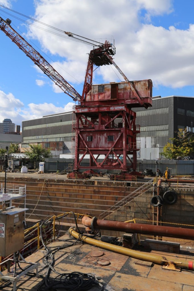 Crane for operation dry dock