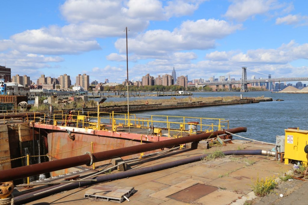 Operational dry dock next to the East River