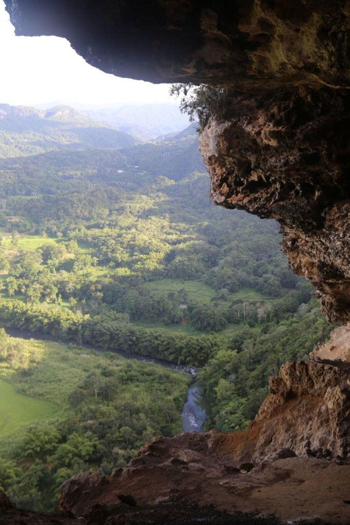 Arecibo River valley viewed through Cueva Ventana's Window