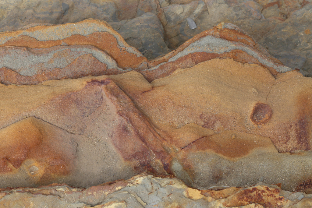 Colorful, rock layers