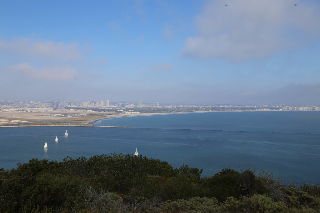 View of San Diego from Cabrillo National Monument (in afternoon)
