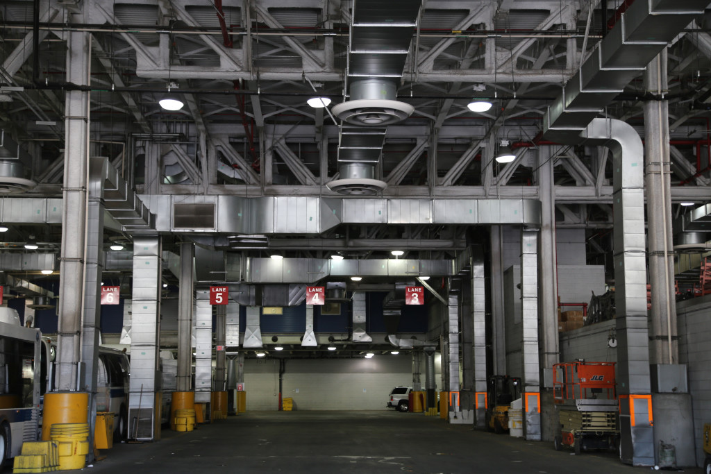 Lane to maintenance bays