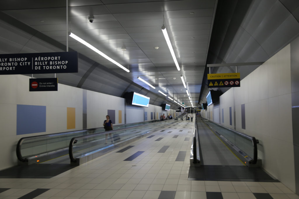 New pedestrian tunnel linking airport to mainland
