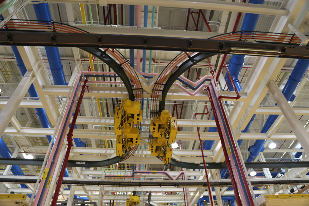Pipes, ducts, and gantry galore