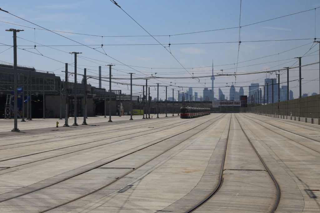 Storage area with view of downtown Toronto